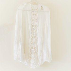 Merona white lace kimono